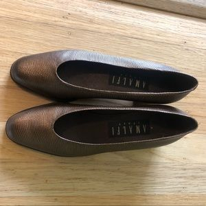 Amalfi bronze metallic loafers